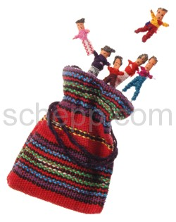 12 bags with each 6 worry dolls from Guatemala