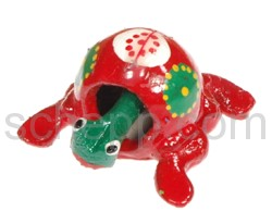 Wackeltier Frosch, handbemalt