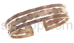 Armspange, Kupfer, geflochten