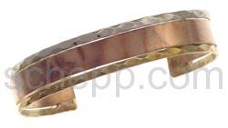 Armspange Kupfer, Messing und Alpaka