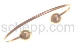 Kupferarmspange mit Kugeln
