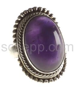 Ring, Amethyst, oval