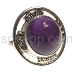 Ring, Amethyst, rund