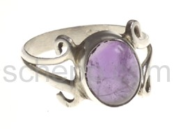Ring, amethyst, small