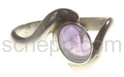 Ring, Amethyst, oval, klein