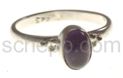 Ring, amethyst, oval, small