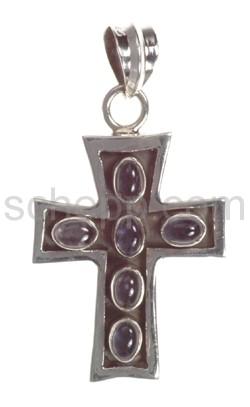 Anhänger Kreuz, Amethyst