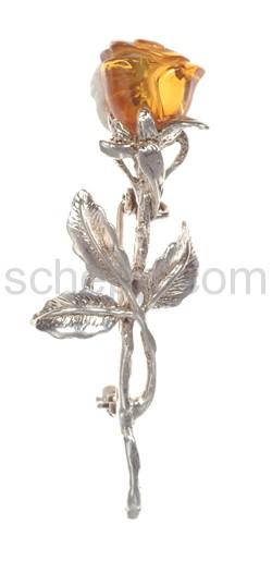 Brosche Rosenblüte