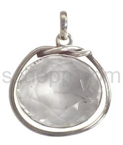 Anhänger, Bergkristall, oval