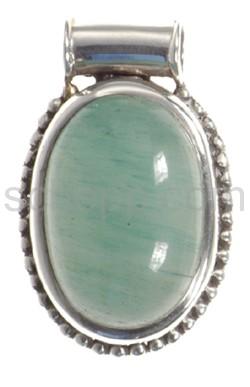 Anhänger, Jade, oval