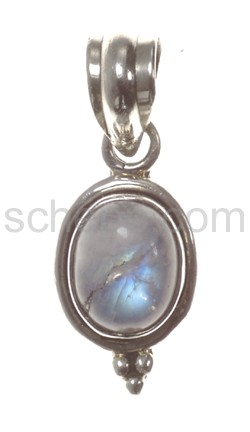 Pendant, moonstone, oval