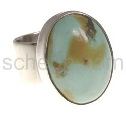 Ring mit Türkis, oval, groß