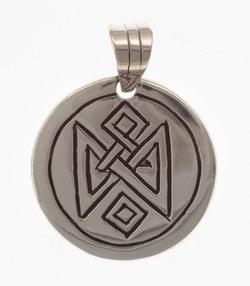 Amulett mit eckigem Muster