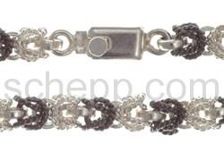 Armband, Schaumkette mit oxidiertem Silber