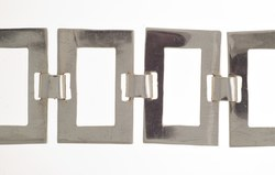 Gliederarmband aus rechteckigen, durchbrochenen Silberplatten