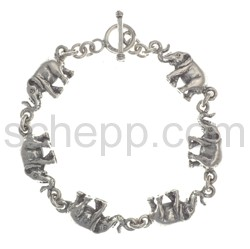 Link bracelet elephants