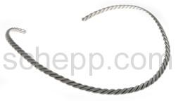 Halsspange, gedrehter Silberdraht