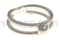 Ring aus Silberdraht