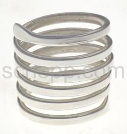 Ring aus Silberdraht, große Spirale