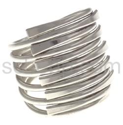 Ring aus Silberdraht, groß