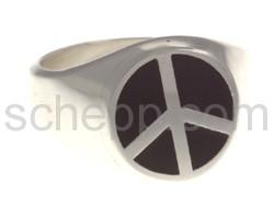 Siegelring Peace-Zeichen