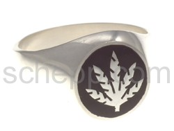 Seal ring hemp leaf