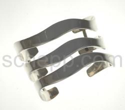 Armspange aus 3 Silberplatten
