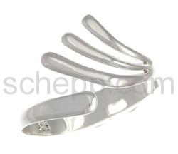 Armspange mit gefächerten Enden, oval, klappbar