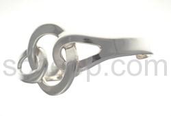 Armspange aus flachem Silberdraht