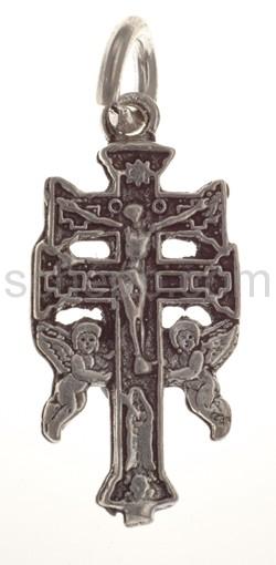 Anhänger, Kreuz mit Christus und Engeln