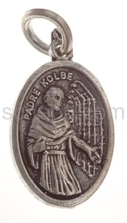 Amulett, Pater Kolbe/Padre Kolbe und Maria mit dem Christuskind
