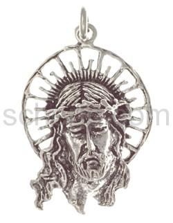 Anhänger, Jesuskopf mit Heiligenschein