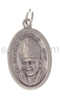 Amulett, Papst Johhannes Paul II./Maria und Christus