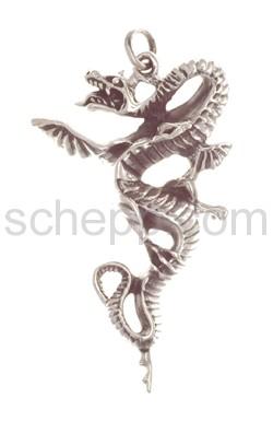 Pendant water dragon/water snake