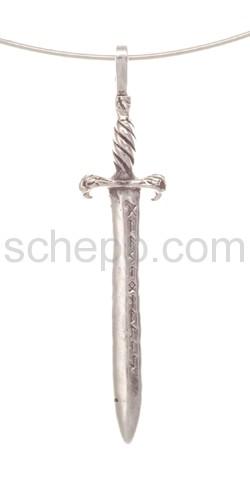 Anhänger, Schwert mit Runen