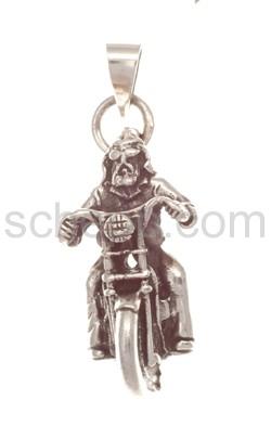 Anhänger Motorradfahrer/Skelett