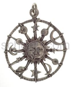 Anhänger, Sonne, Mond und Gestirne, klein