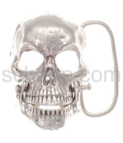 Gürtelschnalle mit Totenschädel/Skull