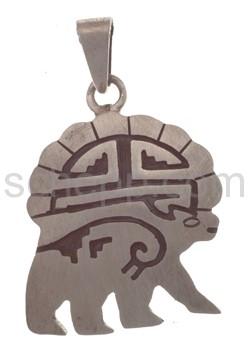 Pendant Indian jewellery, bear (Hopi style)