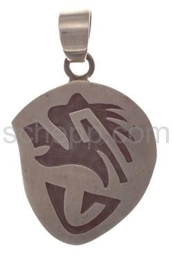 Pendant Indian jewellery, bear\s head (Hopi style)
