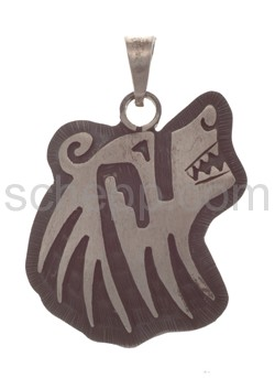 Pendant Indian jewellery, bear\s head (Hopi style)