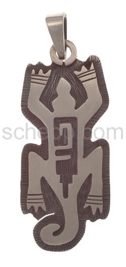 Anhänger Indianerschmuck, Eidechse (Hopi-Style), groß