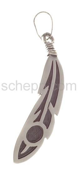 Anhänger Indianerschmuck, Feder (Hopi-Style)