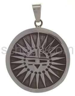 Anhänger Indianerschmuck, abstrakte Sonne, groß (Hopi-Style)