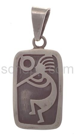 Anhänger Indianerschmuck, Kokopelli mit Sonne (Hopi-Style), ecki