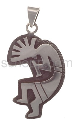 Pendant Indian jewellery, Kokopelli (Hopi style), large