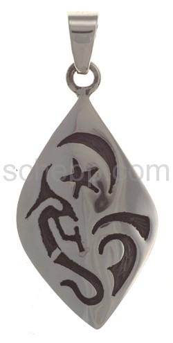Anhänger Indianerschmuck, Kokopelli, Stern, Mond (Hopi-Style)