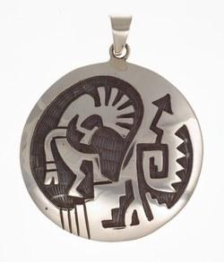 Anhänger Indianerschmuck, Kokopelli (Hopi-Style)