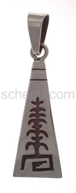 Anhänger Indianerschmuck, Lebensbaum und Ornament (Hopi-Style),