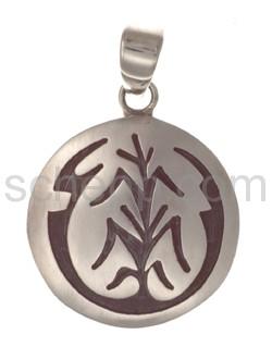 Anhänger Indianerschmuck, Lebensbaum (Hopi-Style), rund